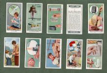 Cigarette cards set safety advise for home,work,and the outdoors 1931